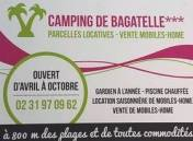 Camping Calvados au CAMPING DE BAGATELLE